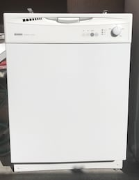 white dishwasher Kenmore