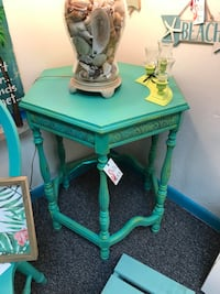Painted antique accent side table Ocala, 34475