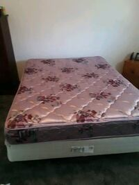 Queen size bed with frame and box spring