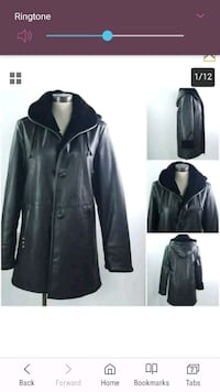 Nuage Women Sz S Faux Leather Hooded Jacket Coat S Toronto, M2J 2C3