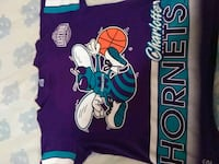 purple and teal Charlotte Hornets crew-neck t-shirt Monroe, 28110