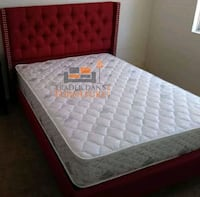 Brand New Queen Size Platform Bed + Mattress  24 mi