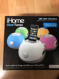 five assorted-color iHome Glow Tunes dock speakers box Vancouver, V5R 4T8