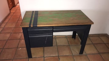 Large Wooden Painted Desk