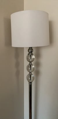 stainless steel base white shade table lamp Burnaby, V5H 2P4