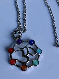 "Pretty Necklace different color gemstones 20"" Mount Pleasant, 48858"