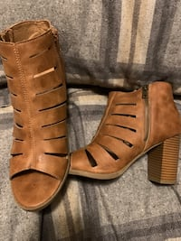 Brown healed boots