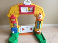 yellow, green, and red Barn playset Sherwood Park, T8A 4X1