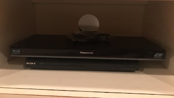 Panasonic Blue ray player and Sony DVD player- 25$ each