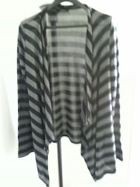 Gray and black stripped cardigan