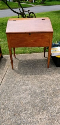Antique school teacher desk