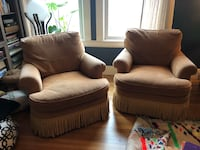 Pair of upholstered Baker lounge chairs San Francisco, 94118