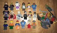 18 lego minifigures Lot and sets/ pieces  Columbia, 21044