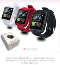 two black and white smart watches 2056 mi