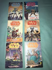 six Star Wars comic books