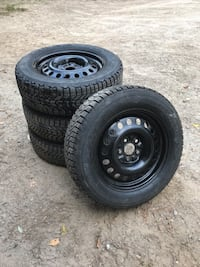 black bullet hole car wheel with tire set