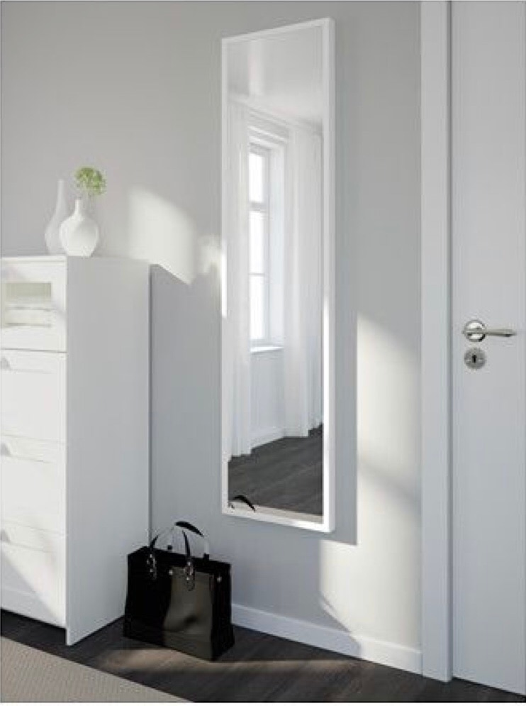 Delicieux IKEA U201cStaveu201d White Full Length Storage Mirror