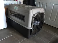 """Large dog crate   Used once to bring our doc to her forever home. 30"""" h 27 w 40"""" long  Port Coquitlam, V3C 6B7"""