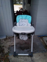 baby's white, blue, and gray highchair DeBary, 32713