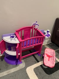 Baby crib, eating chair and carrier playset Ajax, L1T 3K9