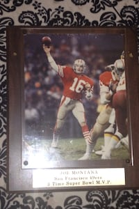 Authentic Joe Montana Signed and Framed photograph Vallejo, 94589
