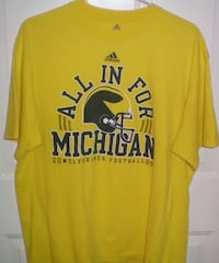 Michigan Wolverines Adidas All In For Michigan Tshirt Size L plus Bonus