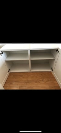 WHITE WOODEN SHELF UNIT WITH DOORS CABINET STORAGE CHEST DRESSER Washington, 20008