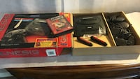 Black Sega Genesis  with three controllers Mobile, 36695