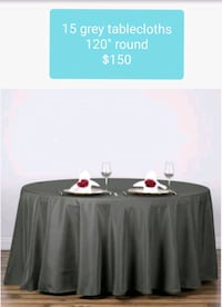 15 Round, Grey Tablecloths Citrus Springs, 34434