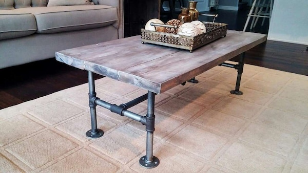 Used Industrial Rustic Coffee Table And End Table For Sale In