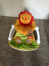 baby's yellow and white Fisher-Price bouncer Woodbridge, 22192
