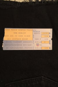 Used 1989 Don Henley concert ticket