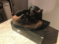 pair of black-and-brown basketball shoes with box Toronto, M2K 0B6