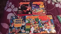 4 Nintendo power magazines +Mario mania book/magazine  Federal Way, 98003