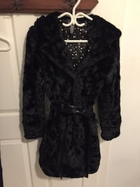 Black faux fur coat Women's Medium Toronto, M4G 1Z1
