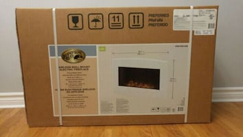 Hampton Bay: Shelton Wall Mount Electric Fireplace