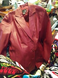 red leather button-up jacket Louisville, 40299