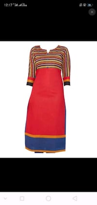 red and blue stripe long sleeve dress Delhi, 110085