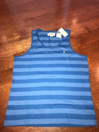 blue and white striped tank top York, 68467