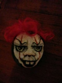 Pennywise_ hand painted on a rock Oklahoma City, 73108