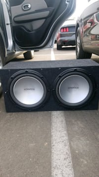 2 Kenwood Subwoofers and RE Audio Amp