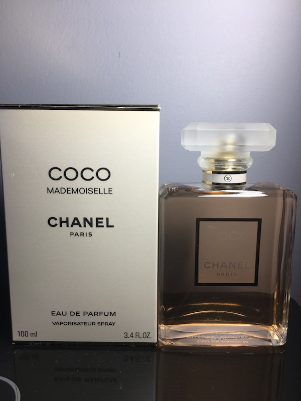 Used 100 Ml Coco Chanel Mademoiselle Eau De Parfum With Box For Sale