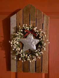 Handmade primitive door/wall decor made from some old barn lath.10.00  Wrightsville, 17368