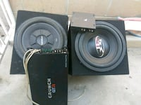 black and gray Pioneer subwoofer speaker Covina, 91722