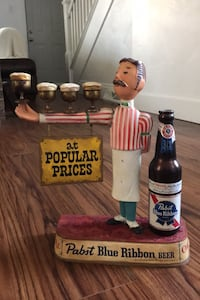 Vintage Pabst Blue Ribbon waiter statue Greensburg, 15601