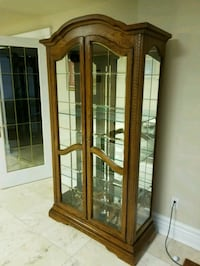 Custom solid wood unit with glass doors Mississauga, L5S 1L9