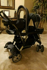 baby's black and gray tandem stroller Humble, 77396