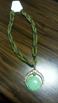 green and blue beaded necklace Everett, 98204