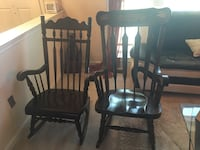 Rocking chairs set $80 both  Sterling