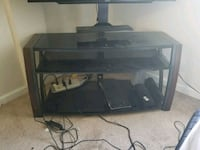 black wooden framed glass TV stand Denver, 80224